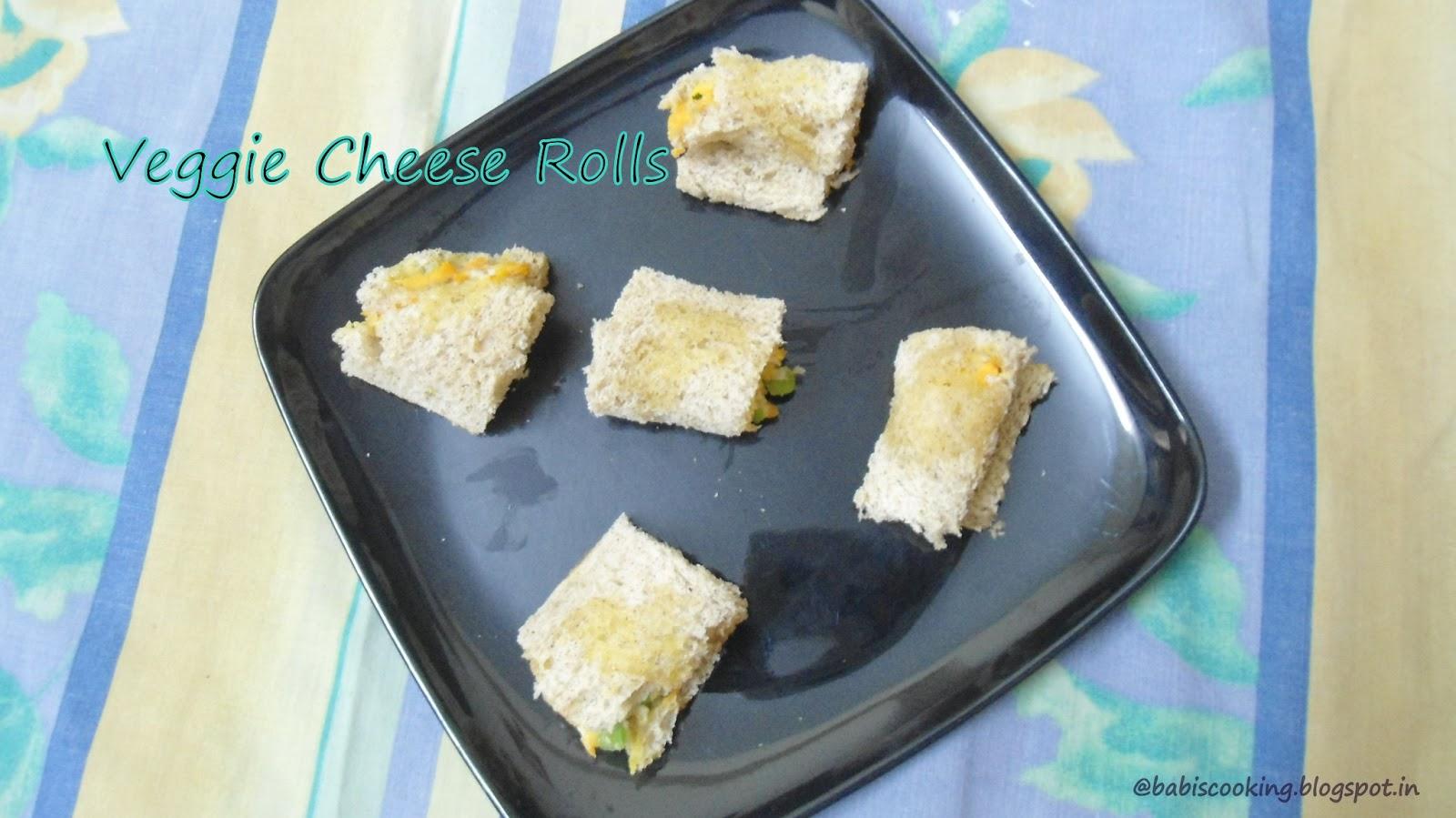 Veggie cheese rolls
