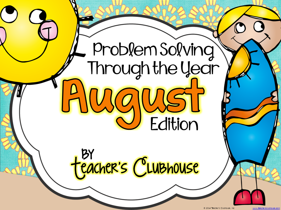 http://www.teacherspayteachers.com/Product/Problem-Solving-Through-the-Year-August-Edition-1269285