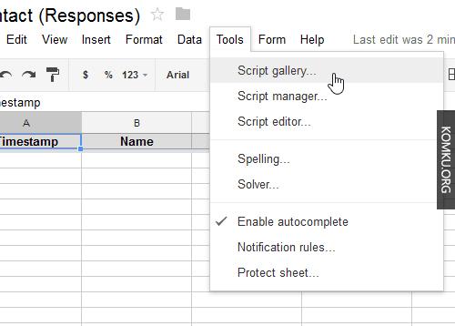 Google Drive Script Gallery