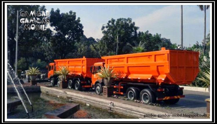 gambar mobil truk sampah