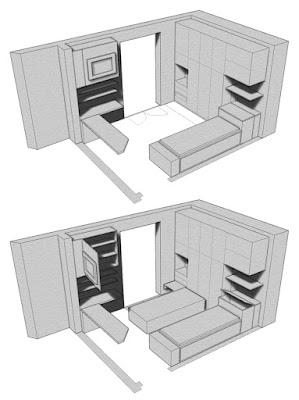 progetto arredamento camera