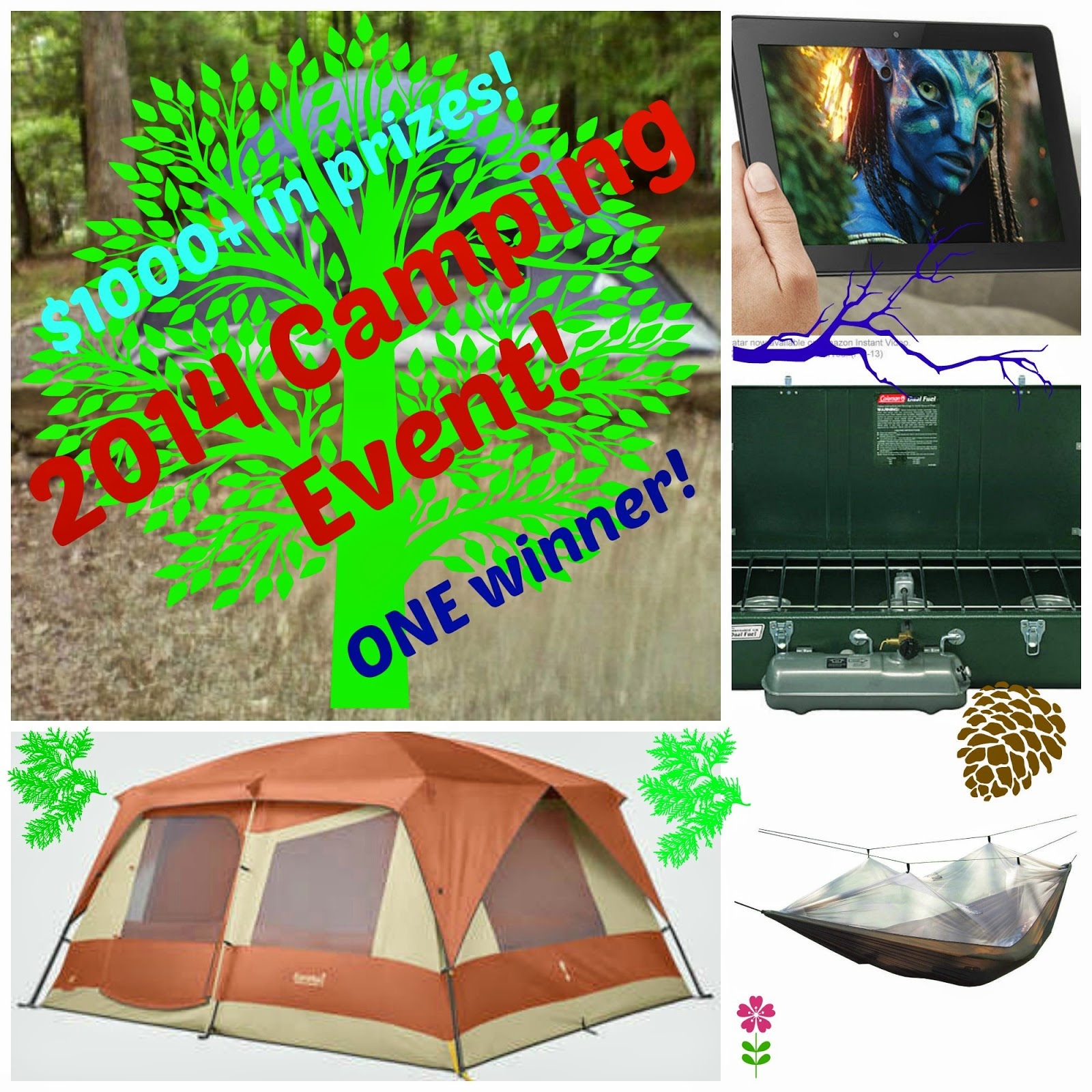 Enter the 2014 Camping Event Giveaway. Ends 7/25.