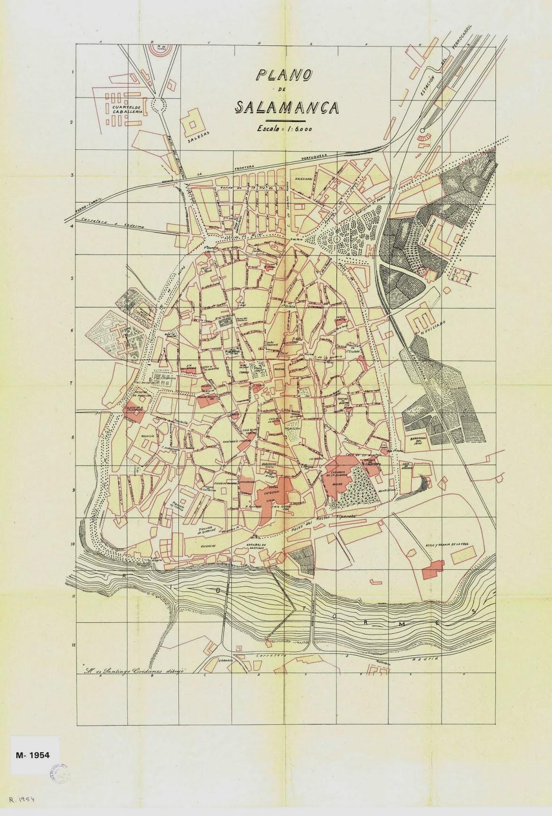 Salamanca en el ayer: Planos de Salamanca