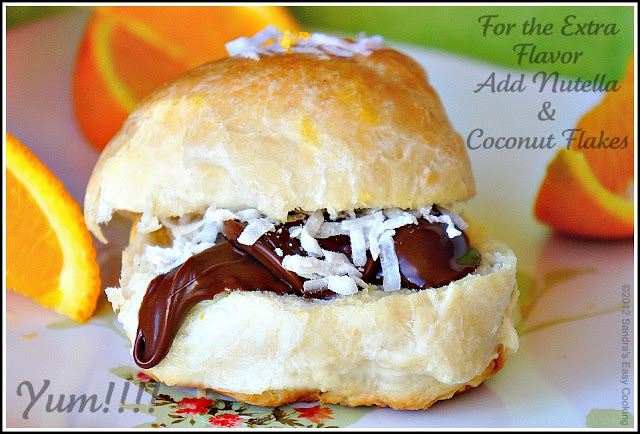homemade and simple recipe for Sweet Coconut Buns
