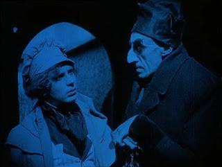 Efectos especiales en Nosferatu. Tonos azules para noche