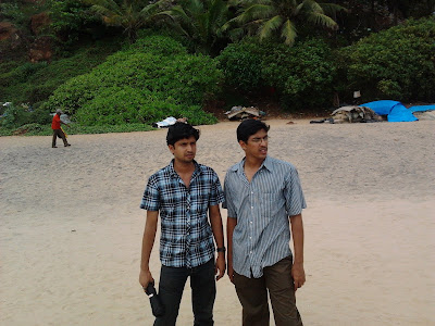 Sailesh V, George Uthup at Papanasam beach