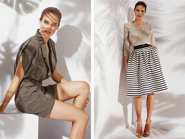 ropa de mujer Suiteblanco primavera verano 2015 vestido estilo militar y falda
