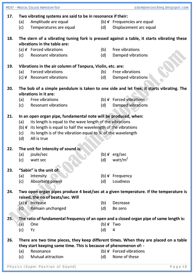 mcat-physics-super-position-of-sound-mcqs-for-medical-entry-test