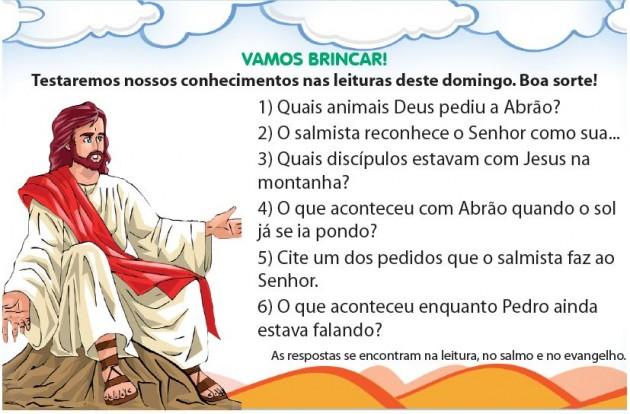 Atividade Para Catequese     MISSA DO 2   DOMINGO DA QUARESMA
