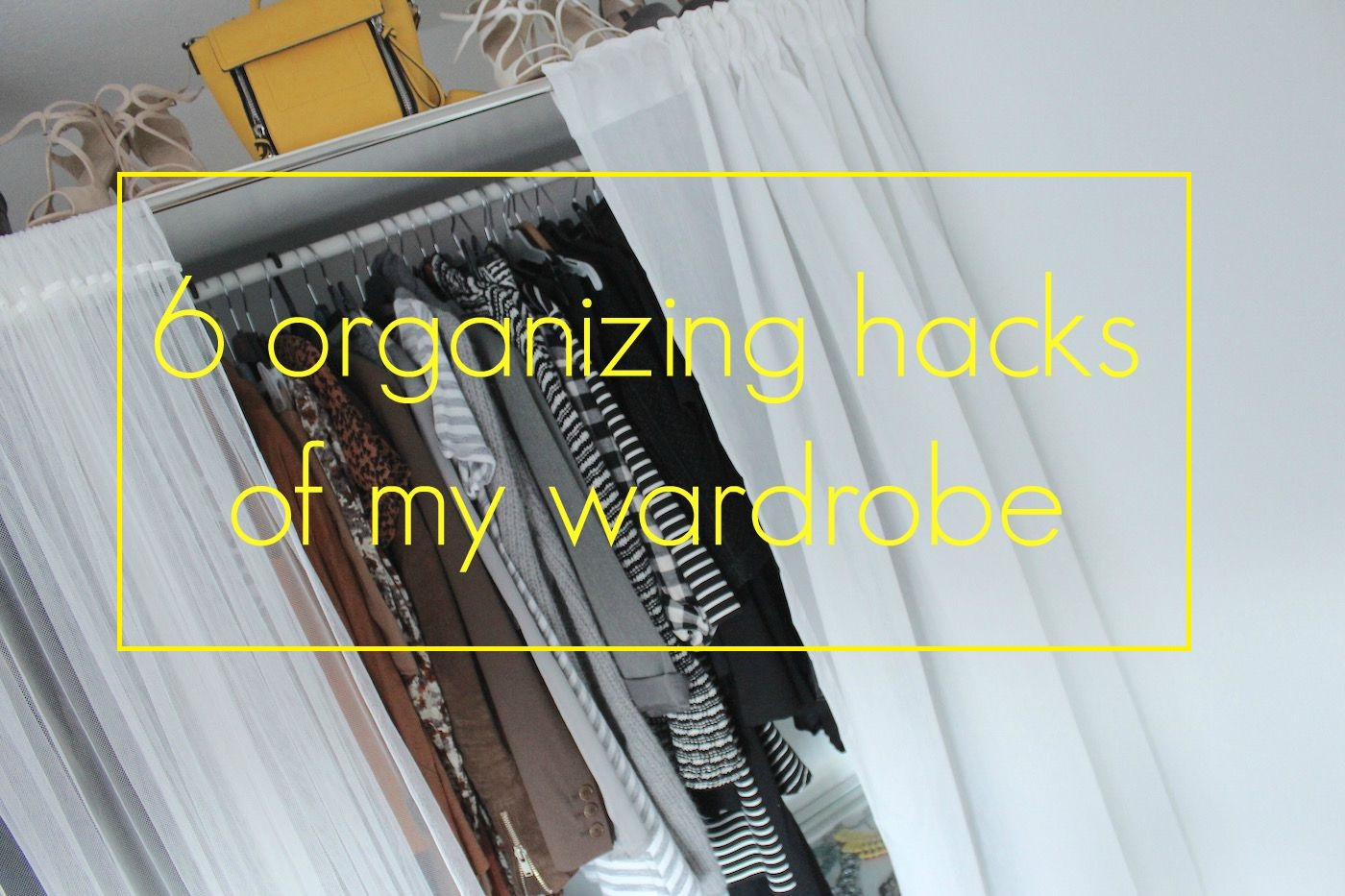 Interior] 6 organizing hacks of my wardrobe