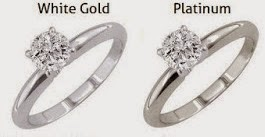 the gallery for gt platinum ring vs white gold
