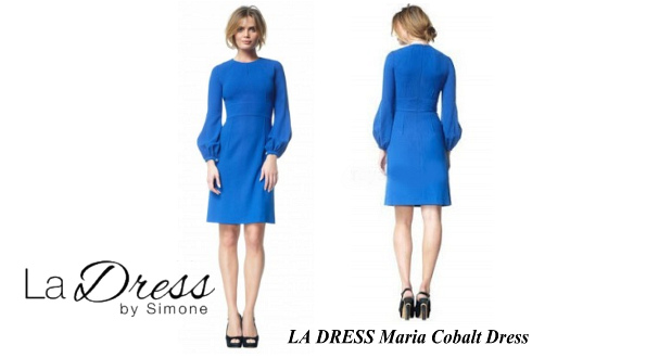 Queen Maxima's LA DRESS Maria Cobalt Dress