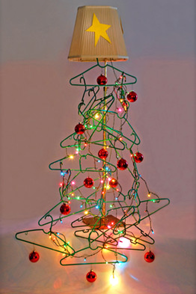 stunning arboles de navidad diy con telas cojines botones perchas with ideas arboles de navidad - Arbol De Navidad De Tela