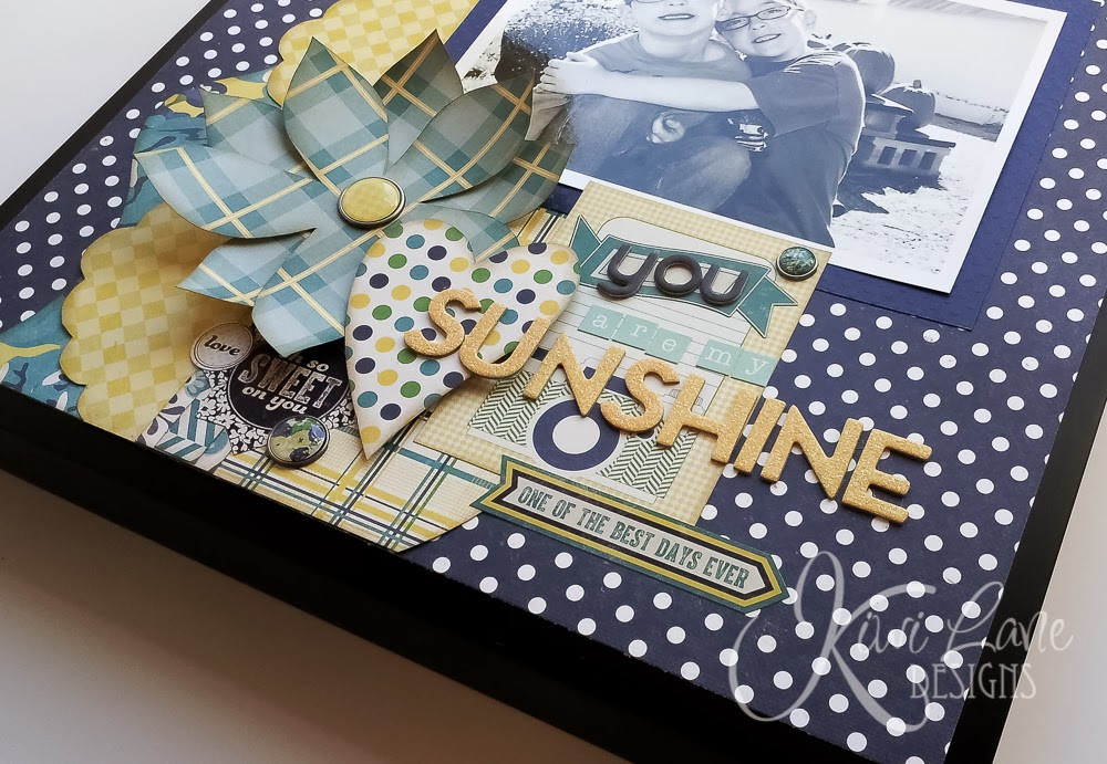 Kiwi Lane blog hop February project -- You Are My Sunshine -- www.MightyCrafty.me