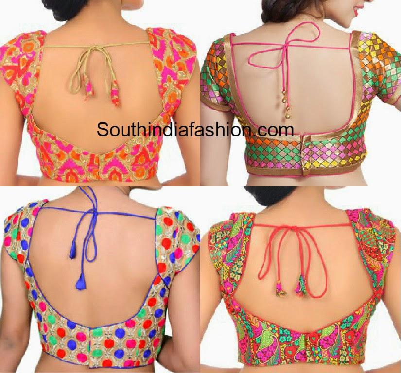 multi color readymade saree blouses