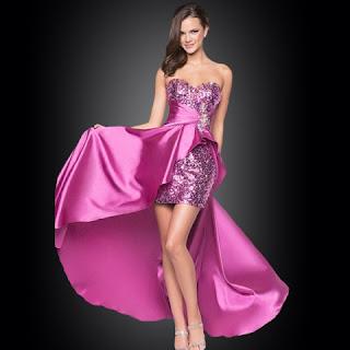 Model Gaun Pesta Pendek