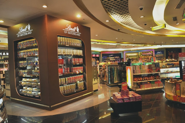 Chocolate area at Departure main shop