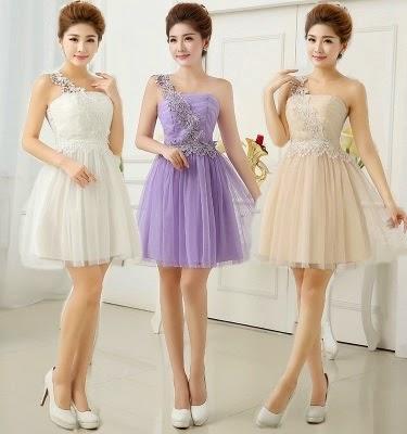 Floral Crochet Elastic Back Lace Bridesmaids Dress