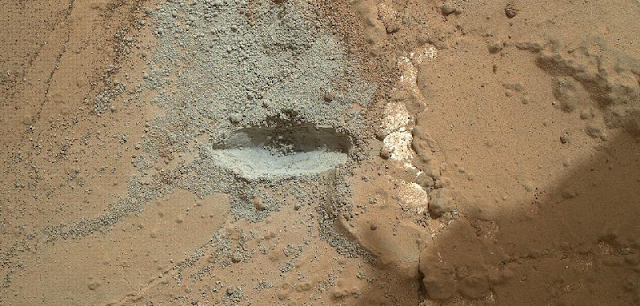Drilling Test on Mars