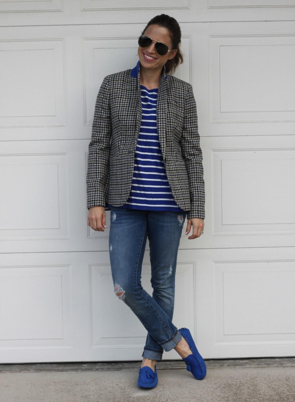 stripes and tweed