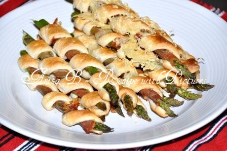 Recipe With Pictures: Asparagus Wrapped in Prosciutto and Puff Pastry
