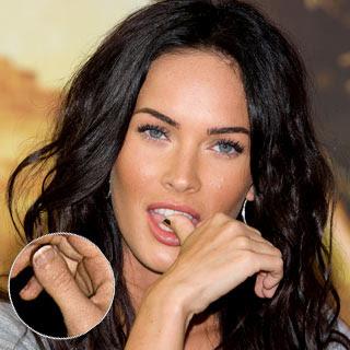 Megan Fox Weird Thumb