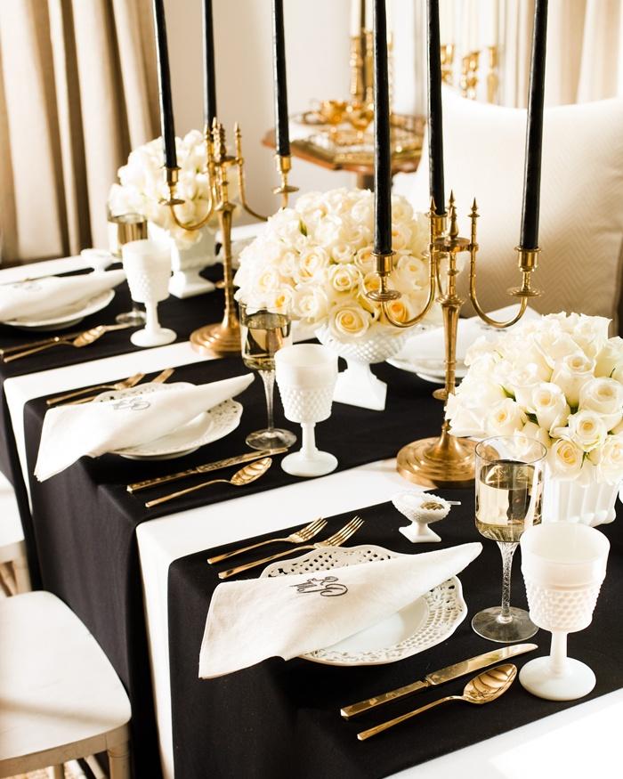 decoracao branca e dourada para casamento : decoracao branca e dourada para casamento: de casamento, casa e maternidade: Decoração DOURADA, PRETA e BRANCA