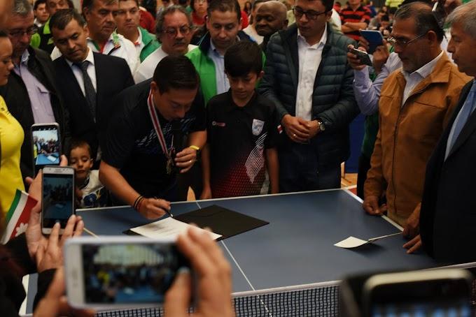 En un hecho histórico, gobernador Carlos Amaya sancionó Ordenanza que fortalece el deporte boyacense
