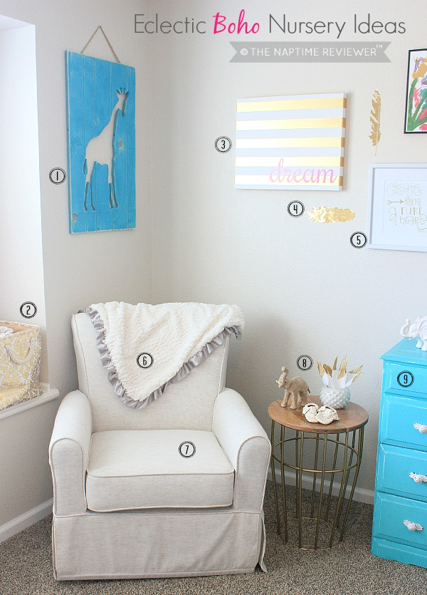eclectic boho nursery ideas