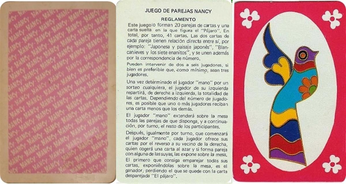 Barajas y Naipes: Nancy juego de parejas