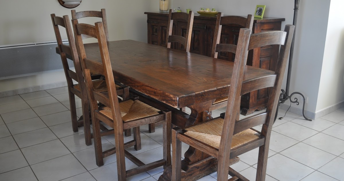 Bois et patines nathalie madrenes table normande patinee - Proteger une table en bois brut ...