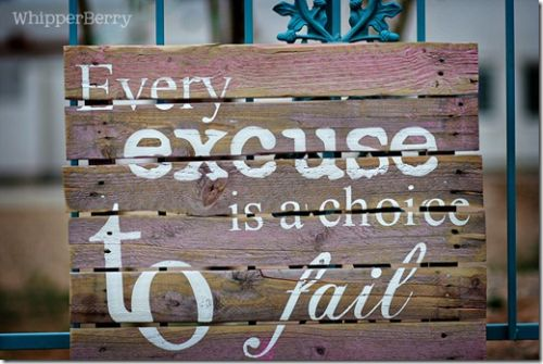 Every Excuse Is A Choice To Fail