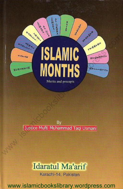 Islamic Months Book by Mufti Taqi Usmani