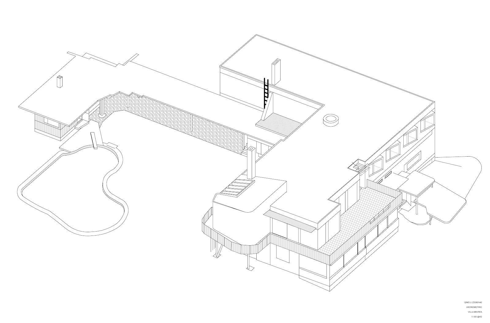 qing li  jenny  arch1202  villa mairea drawings