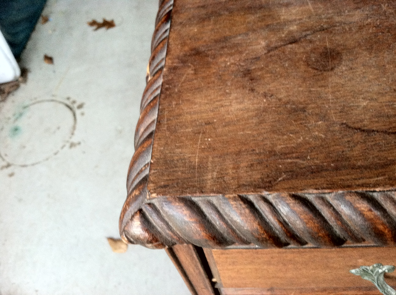 lastly i got this desk i was drawn to the large rope detailing around. Black Bedroom Furniture Sets. Home Design Ideas