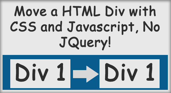 Move a html div with css and javascript no jquery - Div and css ...