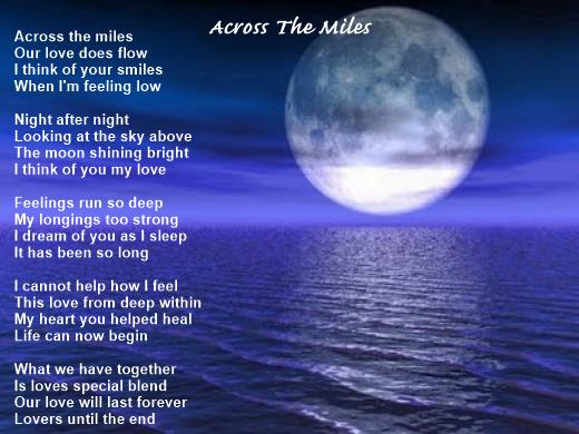 Across The Miles - Love Poem