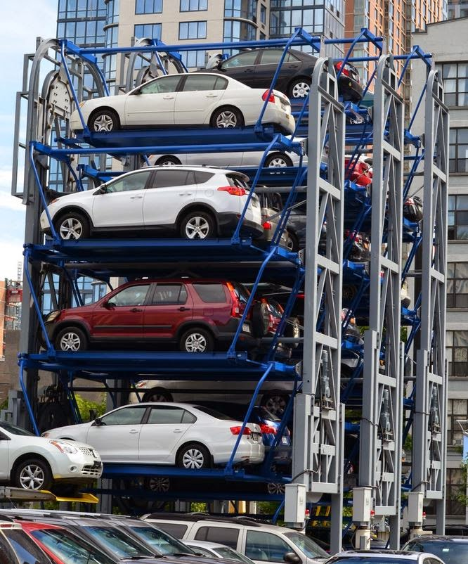 Just A Car Guy: the vertical stacking parking carousel ...
