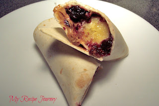 Peanut Butter and Jelly Banana Burritos