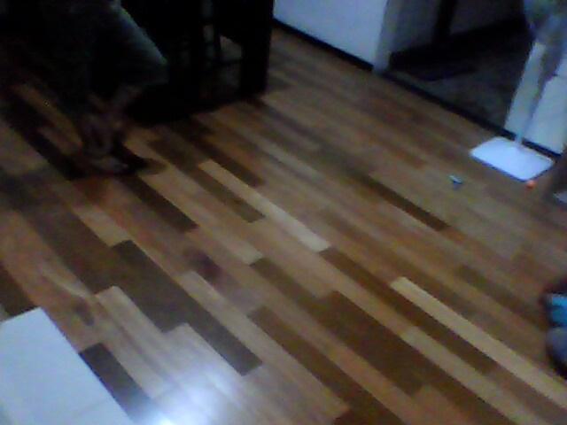 Lantai parkit parket parquet - contoh hasil-hasil produksi setting