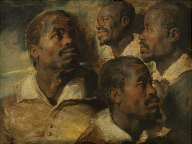 pintura grupo de negros