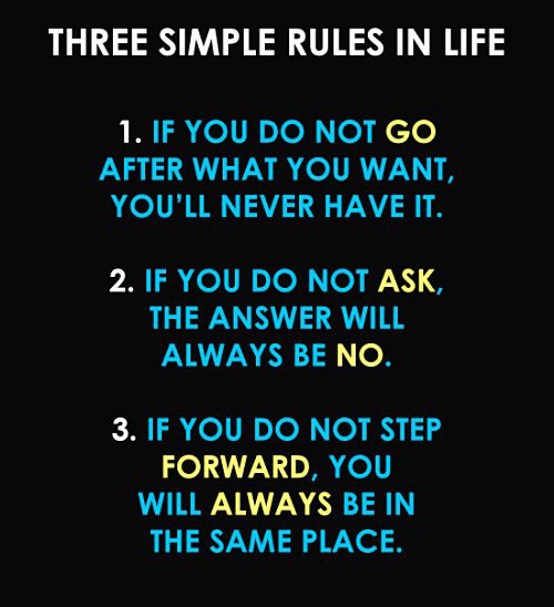 THREE SIMPLES RULES IN LIFE