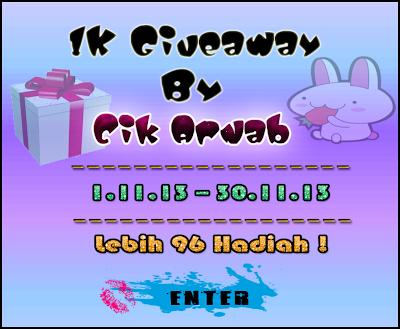 1K Giveaway By Cik Arnab