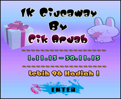 http://cikarnab.blogspot.com/2013/11/1k-giveaway-by-cik-arnab.html