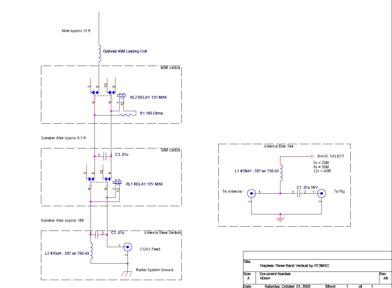 Trapless Three Band Vertical Antenna Open Emitter Schematic Click To Enlarge The