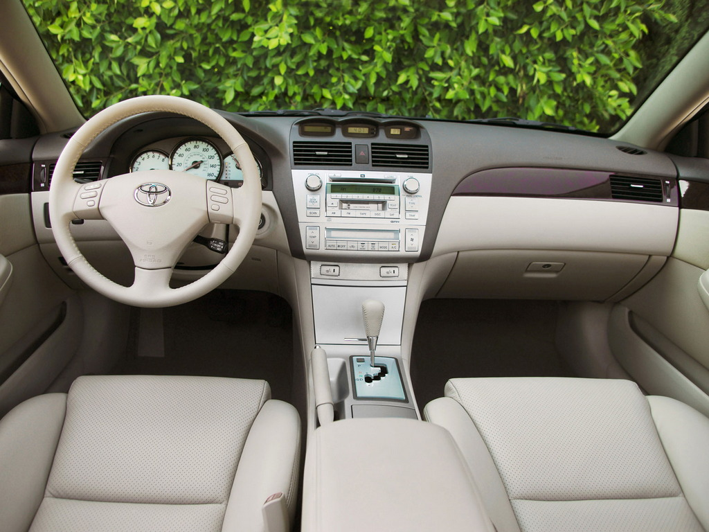 Toyota Camry Solara, 2nd generation, druga generacja, second, II, japońskie coupe, wnętrze, interior