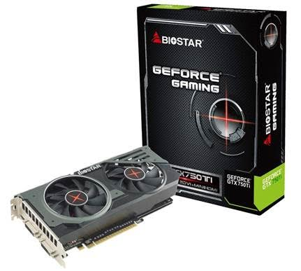 BIOSTAR GeForce GAMING GTX 750 Ti OC