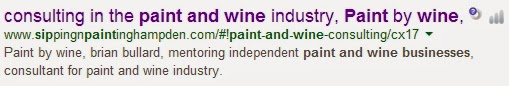 paint and wine business consulting not a franchise