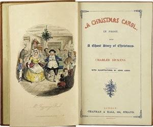Frontispicio original de Cuento de Navidad, de Charles Dickens