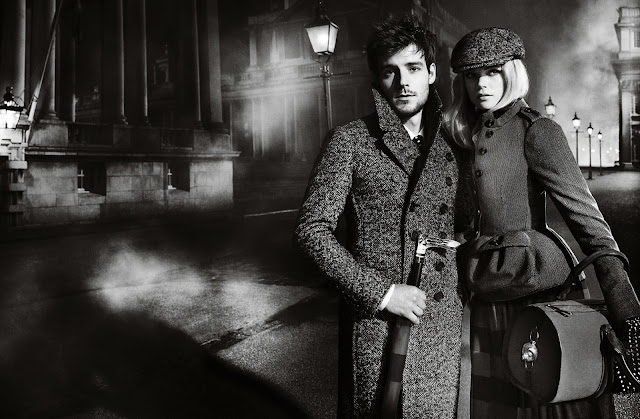 Burberry AW12 campaign shot by Mario Testino starring Gabriella Wilde and Roo Panes